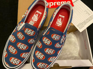supreme vans 666 Slip-On 2017 Shoes sneakers Navy 17SS Size US10.5 New with box