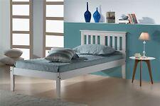 Birlea Single Salvador Solid Pine 3FT 90CM Bedstead Wood Bed Frame White Wash