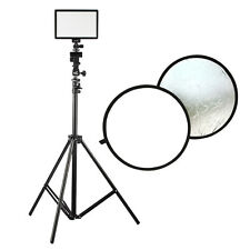 "Viltrox L116B LED Studio Video Light Kit Tripod Stand 24"" 60cm Reflector Panel"