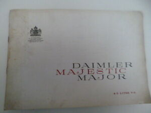 DAIMLER MAJESTIC MAJOR  COLOUR  SALES BROCHURE