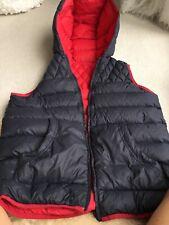 Hugo Boss reversible con capucha Sleevless Beng chaqueta tamaño pequeño para hombre 14-S