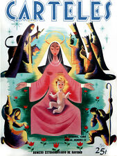 "18x24""Quality Decoration Poster.Room art.Nativity Scene.Virgin Mary.6689"
