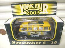 Matchbox York Fair Pennsylvania 2002 VW Volkswagen Bus Tampo Printed, Blank New