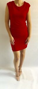 Lady Lol Paris Red Ruched Dress, Size 10/12
