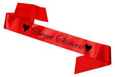 Red sweet sixteen écharpe fête rubans célébration anniversaire bon marché adolescent