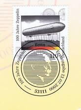 BRD 2000: Zeppelin 100 Jahre! Nr 2128 mit sauberem Bonner Sonderstempel 1A 1610