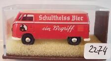 Brekina 1/87 3212 vw bus t1 encadré schultheiss bière OVP #2274