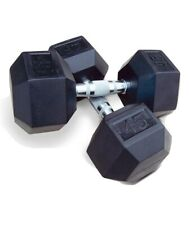 50 Lb Pair (100 Lb Total) Hex dumbbells. Best Price Made In USA