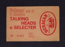 1980 Talking Heads Concert Ticket Stub Rome Italy Remain In Light David Byrne