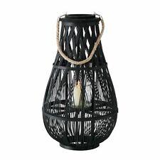Windlicht Jiri Rattan schwarz Höhe 58 cm, Tischdeko, Geschenk, Beleuchtung