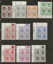 ELEVEN HONG KONG MNH KING GEORGE VI BLOCKS OF FOUR -  A57