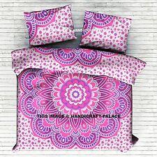Ombre Mandala Indian Duvet Doona Cover Reversible Comforter Bedding Set Blanket