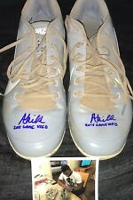 Akil Baddoo Minnesota Twins Autographed Signed 2018 Game Used Cleats Spikes Gray