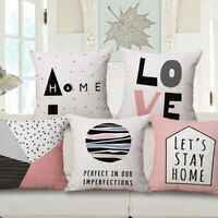 "Bed Sofa Home Case 18"" Pillow Decor Cotton Cover Linen Waist *Love* Car Cushion"