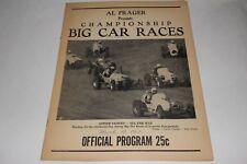 Midget Car Auto Racing Program, Imperial Fairgrounds, March 10 1962