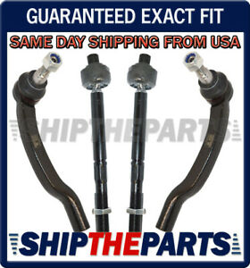 Ram ProMaster 1500 2500 3500 Inner + Outer Tie Rod Rods Rack End Set of 4