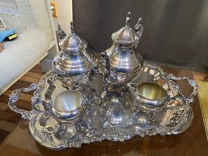 Silverplate Tea Set - F.B. Rogers Silver Co-United States