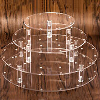 4 Tier Lollipop Cake Pop 35 Holes Display Wedding Stand Holder Base Server Clear