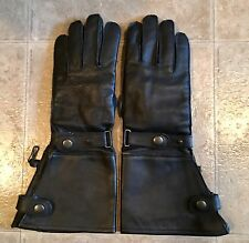 Women's Black Leather Motorcycle Gloves-XS, Brand:First!