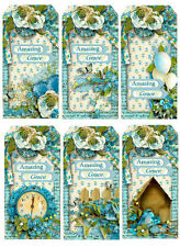 AMAZING GRACE FLORAL  SCRAPBOOK CARD EMBELLISHMENTS HANG / GIFT TAGS