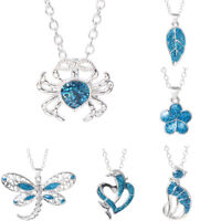 Blue Elegant Gift Animal Jewelry Ocean Animal Pendant Beach Gift Opal Necklace