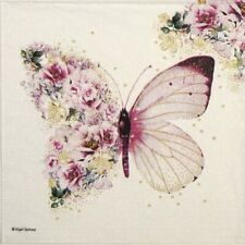 4x Paper Napkins for Decoupage Craft Paper Napkin Nigel Quiney: Butterfly Flower