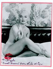 RARE Autographed Photos LILI ST. CYR Busty Famous High-Class BURLESQUE Stripper