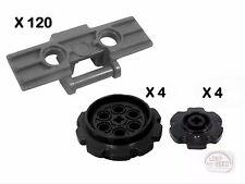 LEGO Technic - 120 Treads & 8 Sprockets - New - (NXT, EV3, Gear, Track, Robot)