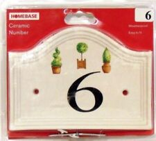 Numbers Ceramic Modern Decorative Plaques & Signs