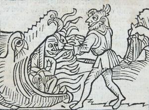 MUSTERPROZESS ZWISCHEN TEUFEL & JESUS CHRISTUS BELIAL DEUTSCH HOLZSCHNITTE 1508