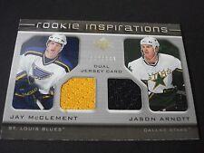 NHL ROOKIE INSPIRATION DUAL JERSEY TRADING CARD - JAY McCLEMENT / JASON ARNOTT