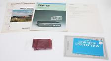 Sony CDP-101 Vintage reproductor de CD Manual Original Paño De Limpieza & papeleo-Raro