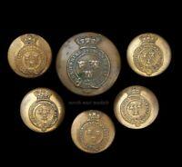 Six Victorian Shropshire Yeomanry Cavalry Uniform Buttons