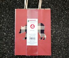 New*4 Pack Small Christmas Gift Bags* Black/White Buffalo Check In Bear Bundle