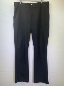 Nike Tiger Woods Mens Golf Pants Black Stretch Flat Front Slash Pocket 36 x 32