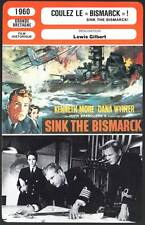 COULEZ LE BISMARCK - More,Wynter,Gilbert (Fiche Cinéma) 1960 - Sink The Bismarck