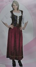 MEDIEVAL WOMANS COSTUME PIRATE SERVING WENCH FANCYDRESS