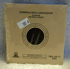 Official 10 Meter (33') 1 Bull NRA Air Rifle Target AR-5/1 | ISSF CMP 4H