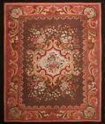 Magnificent Authentic Antique French Aubusson Rare Brown 10x12 1870 Handwoven