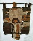VIntage Mid Century Tribal Style Woven Wool Textile Wall Art
