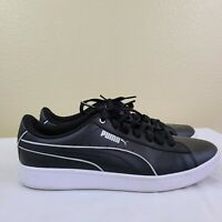 PUMA Womens Size 9 Black Leather Classic Sneaker With SoftFoam