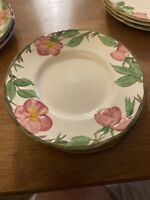 "(4) Franciscan DESERT ROSE 6 1/4""  Bread & Butter Plates Made In England"
