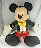 "Disneyland Mickey Mouse 9"" Yellow Bow Tie Tuxedo Tux Plush Disney Parks World FS"