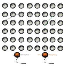 50X 12V Round 3/4 inch Amber Clearance Len LED Bullet Lamp for Truck Side Marker