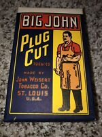 Big John Plug Cut Paper Label Box Tobacco Cardboard, Not Tin Weisert St Louis Mo