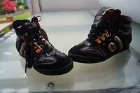 REPLAY Damen Boots Stiefel Schuhe Chucks gesteppt Gr.36 Leder schwarz gold NEU