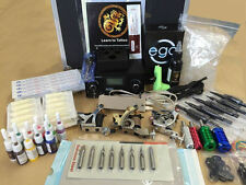 4 guns tattoo kit with 10 color inks includes 1 black ink footswitch top gun