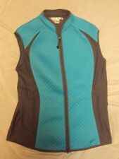 Nike Golf Quilted Vest Blue/Gray Lt Wt Size Med (8-10) New Without Tags!