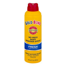New Gold Bond No Mess Body Powder Spray Fresh Scent 7 OZ.
