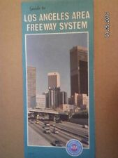 VINTAGE AAA ROAD MAP OF LOS ANGELES AREA FREEWAY SYSTEM CALIFORNIA...1981